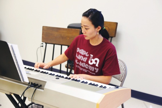 Hannah Park on the keys